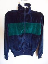 Honors Mens Velour Athletic Jacket Navy/Green - Size:S