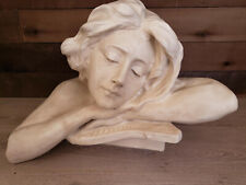 Vintage Large Beautiful Sculpture of a Woman´s head.