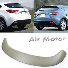 Unpainted Mazda 3 5DR Hatchback OE Tail Rear Roof Trunk Spoiler Wing