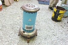 Vintage Antique Perfection Blue Smokeless Oil Heater Porcelain Enamel