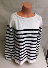 GINA TRICOT Striped Nautical Cotton Sweater Women's Medium