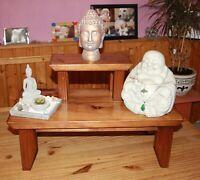 Buddhistische Meditations Schrein, Altar 2 Etagen Massiv Holz Feng Shui