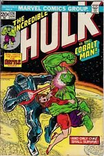 INCREDIBLE HULK 174 April 1974 Very Fine Verses the Cobolt Man