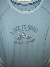 NWT! LIFE IS GOOD MEN GOOD MOVES RUNNING PERFORMANCE TEE..POWER BY OPTIMISM (XL)