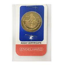 1/4 oz Engelhard Gold Round Prospector .9999 Fine (In Assay)