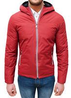 Giubbotto piumino uomo rosso invernale casual sportivo slim fit