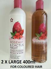 Superdrug Rosehip & Cactus Fruit Shampoo & Conditioner SET - FULL SIZE - 400 ML