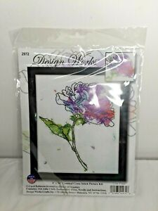 "Design Works Counted Cross Stitch Kit Lilac Floral 8"" x 10"" #2972 Carol Robinson"