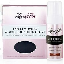 DARK Loving Tan 2 Hour Express Deluxe Bronzing Mousse & Skin Polishing Glove 2HR