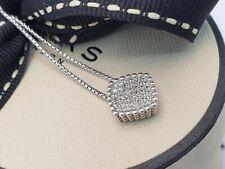 Genuine Links of London PURE Topaz cushion pendant necklace