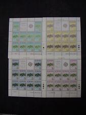 MALTA 1972 n. 4 MINIFOGLI da 10 francobolli EUROPA CEPT cod UNI MF452/55