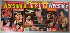 Vintage Pro Wrestling Magazine Lot of 3 The Wrestler New Wcw Wwf Nwa 1978 1980