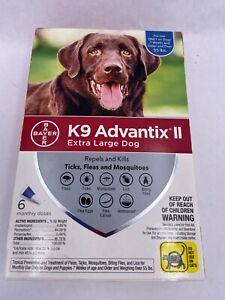 New K9 Advantix II Flea & Tick Prevention Extra Large Dogs >55 lbs - 6 Doses