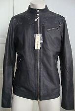 DIESEL LEPRANDO GIACCA Leather Jacket Lederjacke Herren Gr.L NEU mit ETIKETT