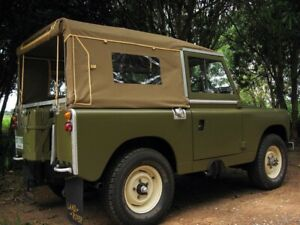 NEW 88 Series 2+3 Full Land Rover Canvas Hood With Side Windows - Sand Colour