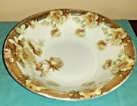 Vtg Hermann OHME Silesia hand painted Porcelain serving Bowl 10 1/2""