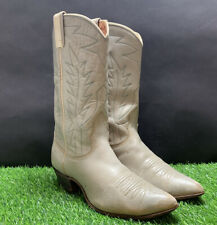 Nocona Womens Tan & Blue Western Boots Size 8B Pointed Toes