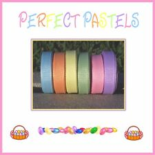 "30 yards 3/8"" EASTER SPRING PERFECT PASTELS Grosgrain Ribbon Lot"