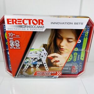 Erector By Meccano #19602 Motorized Movers Unused With Sealed Parts Robotics