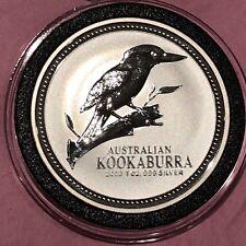 2003 Australian Kookaburra 1 Troy Oz .999 Fine Silver Collectible $1 Coin Round