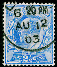 Sg230, 2½d ultramarine, FINE used, CDS. Cat £10.
