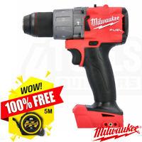 "Milwaukee M18FPD2-0 18v Li-ion 1/2"" Fuel GEN 3 Percussion Drill Body + 5m Tape"