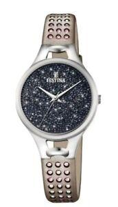 FESTINA F20407/3  Mademoiselle Damen Uhr mit Swarovski KRISTALLEN in BOX LP 139€
