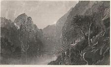 fine original 1876 steel engraving Jasper F Cropsey ECHO LAKE, NEW HAMPSHIRE