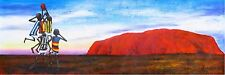 AFL OUTBACK GRAND FINAL PAINTING ART PRINT AUSSIE RULES  ULURU AYERS ABORIGINAL