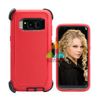For Samsung Galaxy S8 Case (Clip fits Otterbox Defender) Cover Holster Rugged