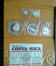 Costa Rica 1970 Mint Pack Set of 5 Silver Coins,Proof