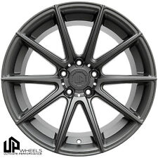 UP100 19x8.5/9.5 5x114.3 Matte Gunmetal ET35/40 Wheels Fits Is250 350 Sc430 Rwd
