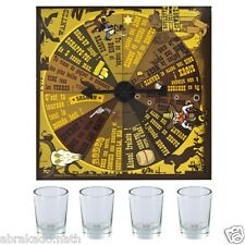 JEU D ALCOOL ROULETTE INFERNALE 4 VERRES + PLATEAU DRINKING GAME AMBIANCE FETE