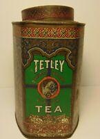 Vintage 1920s TETLEY TEA ELEPHANT GRAPHIC ADVERTISING TIN ONE POUND NEW YORK USA