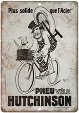 PLAQUE ALU DECO AFFICHE LE MEILLEUR LE MOINS CHER PNEU VELO CYCLE CYCLISTE 1912