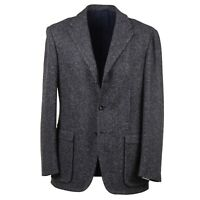 d'Avenza Gray Woven Donegal Tweed Wool 'Voyager Sartorial Jacket' 40R Sport Coat
