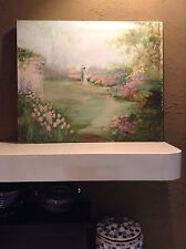 Rowenna Anderson ORIGINAL Bride Groom Flowers Garden Art Oil Painting un-SIGNED