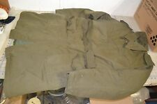 military heavy jacket full length trench coat Od green field w/liner swiss