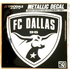 "FC Dallas 6"" Silver Metallic Mirrored Style Auto Decal MLS Soccer Football Club"
