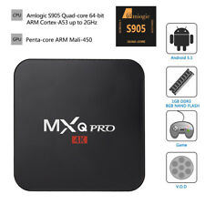 MXQ 4K Android 6.0 Smart TV BOX Latest RK3229 Quad Core 8GB HD 1080P WIFI Media
