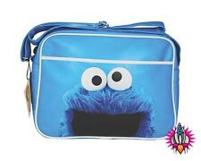 Sesame Street Cookie Monster Blu a Tracolla Messenger Borsa Scuola Palestra Sport