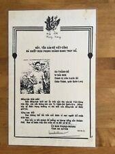Vietnam Phoenix Program Wanted Poster with Description