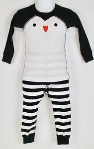 Hanna Andersson Girls Character Penguin Long Johns Pajama Set NWT 80