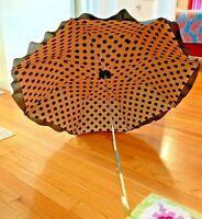 VINTAGE EARLY 20TH CENTURY Victorian Umbrella Parasol Wooden & Metal Handle