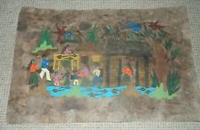 Mexican painting by Telesforo Rodriguez on bark