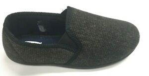 MENS NEW TOP QUALITY FULL INDOOR SLIPPERS HOUSE SHOE TAN/BLACK KNITED 7 - 11
