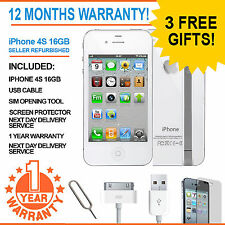 Apple iPhone 4S 16GB-Ee Arancione T-mobile Virgin Mobile Smartphone Bianco