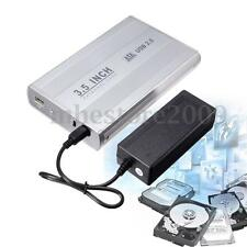 3.5'' USB 2.0 SATA HDD Hard Drive External Enclosure Case Cover Box + Cable
