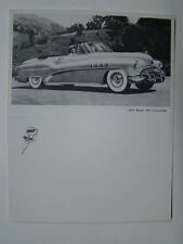 1952 Buick 76C Convertible Unfolded Photograph Postcard