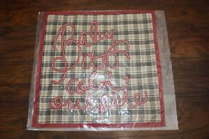 Pottery Barn Baby it's Cold Outside PLAID 18 x 18 Pillow Cover NWT-Christmas